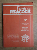 Anticariat: Revista de pedagogie, nr. 12, decembrie 1985