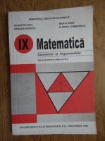 Augustin Cota, Mariana Radutiu - Matematica. Geometrie si trigonometrie. Manual pentru clasa a IX-a (1998)
