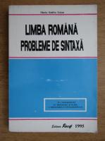 Maria Emilia Goian - Limba romana, probleme de sintaxa
