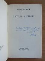 Anticariat: Dumitru Micu - Lecturi si pareri (cu autografului autorului)