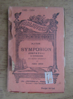 Anticariat: Platon - Symposion. Ospatul (1920)