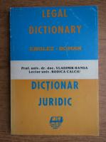 Vladimir Hanga - Dictionar juridic englez-roman