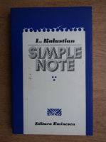 Anticariat: L. Kalustian - Simple note (volumul 3)