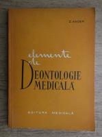 Anticariat: Z. Ander - Elemente de deontologie medicala