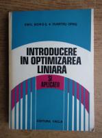 Anticariat: Emil Boros - Introducere in optimizarea liniara si aplicatii