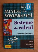 Anticariat: Mariana Milosescu - Manual de informatica. Sisteme de calcul, clasa a IX-a