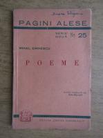 Anticariat: Mihai Eminescu - Poeme. Luceafarul, Calin, Epigonii, Scrisoarea I, Scrisoarea III (1944)
