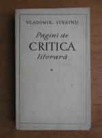 Anticariat: Vladimir Streinu - Pagini de critica literara