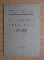 Anticariat: Actul constitutiv si statuetele (1928)