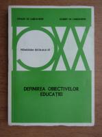 Viviane de Landsheere - Definirea obiectivelor educatiei