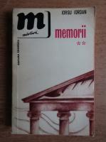 Anticariat: Iorgu Iordan - Memorii (volumul 2)