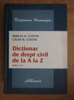 Anticariat: Mircea Costin - Dictionar de drept civil de la A la Z