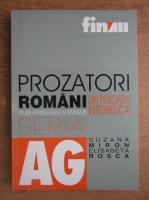 Anticariat: Suzana Miron, Elisabeta Rosca - Prozatori romani din perioada interbelica. Studii pentru elevi si studenti