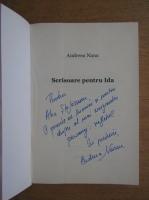 Andreea Nanu - Scrisoare pentru Ida (cu autograful autorului)