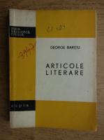 George Baritiu - Articole literare