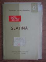 Slatina. Harta geologica (contine harta)