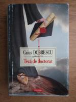 Caius Dobrescu - Teza de doctorat
