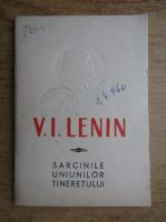 Vladimir Ilici Lenin - Sarcinile uniunilor tineretului