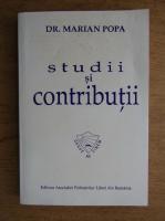 Anticariat: Marian Popa - Studii si contributii