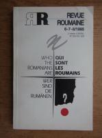 Anticariat: Revue Roumaine, nr. 6-7-8, 1995