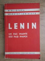 Anticariat: Vladimir Ilici Lenin - Un pas inainte, doi pasi inapoi