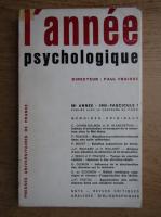 Anticariat: Paul Fraisse - L'annee psychologique