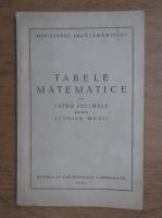 Anticariat: Tabele matematice cu patru zecimale pentru scolile medii
