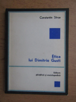 Anticariat: Constantin Stroe - Etica lui Dimitrie Gusti