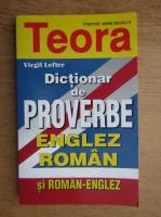Anticariat: Virgil Lefter - Dictionar de proverbe englez-roman si roman-englez