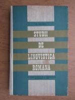 Anticariat: Dimitrie Macrea - Studii de lingvistica romana