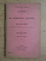 P. Schricke - 50 Versions latines de baccalaureat (1938)
