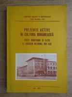 Anticariat: Prezente active in cultura romaneasca