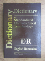 Anticariat: Dictionary of standardized electrotechnical terminology english-romanian