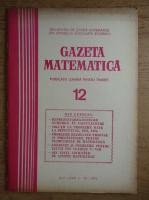 Gazeta Matematica, anul LXXX, nr. 12, 1975