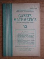 Gazeta Matematica, Seria B, anul LXXXIX, nr. 12, 1984