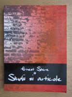 Ernest Stere - Studii si articole