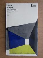 Anticariat: Hans Mayer - Ansichten