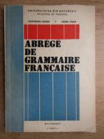 Alexandra Cunita - Abrege de grammaire francaise