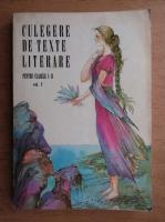 Culegere de texte literare pentru clasele I-II (volumul 1)