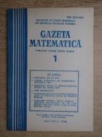 Anticariat: Gazeta matematica. Anul XCIII, nr. 1, 1988