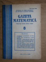 Anticariat: Gazeta matematica. Anul XCIII, nr. 8, 1988