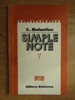L. Kalustian - Simple note (volumul 4)