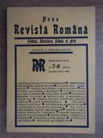 Anticariat: C. Radulescu-Motru - Noua Revista Romana, politica, literatura, stiinta si arta, nr. 7-8, ianuarie-martie 1998