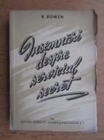 Anticariat: R. Rowen - Insemnari despre serviciul secret