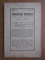 Anticariat: I. Minea - Cercetari istorice. Revista de istorie romaneasca, anul II-III, 1926-1927