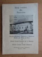 Anticariat: Sfinti romani din Bucovina
