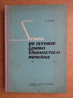 Anticariat: Dimitrie Macrea - Studii de istorie a limbii si a lingvisticii romane