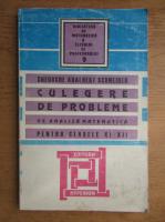 Gheorghe Adalbert Schneider - Culegere de probleme de analiza matematica pentru clasele XI-XII (1998)