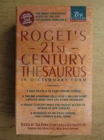 Anticariat: Roget's 21st century thesaurus