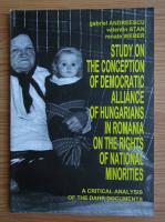 Anticariat: Gabriel Andreescu, Valentin Stan - Conceptia UDMR privind drepturile minoritatilor nationale